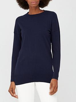 v-by-very-crew-neck-longline-jumper-navy