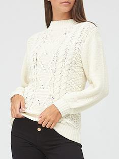 v-by-very-chenille-cable-jumper-ivory