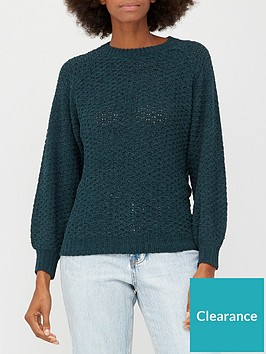 v-by-very-chenille-stitch-detail-crew-neck-jumper-forest-green