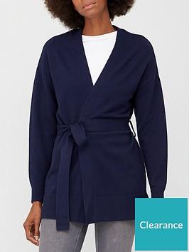 v-by-very-tie-waist-cardigan-navy