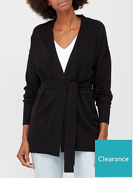 v-by-very-tie-waist-cardigan-black