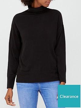 v-by-very-super-softnbsproll-necknbspjumper-black
