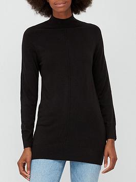 v-by-very-super-soft-front-seam-detail-longline-jumper-black