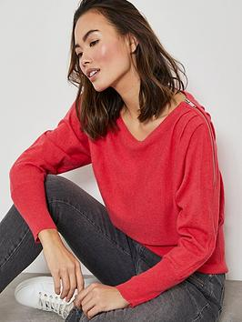 mint-velvet-zip-detail-batwing-knit-jumper-watermelon