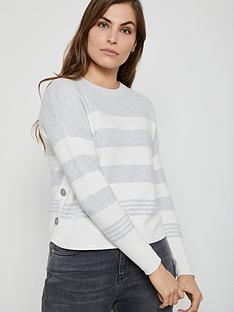 mint-velvet-blocked-stripe-boxy-jumper-light-grey
