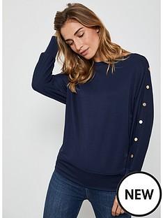mint-velvet-studded-batwing-t-shirt-navy