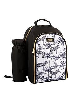 summerhouse-by-navigate-madagascar-zebra-2-person-filled-insulated-backpack-with-insulated-bottle-holder