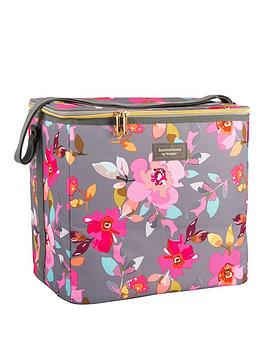 summerhouse-by-navigate-gardenia-family-cool-bag-20l-grey-floral
