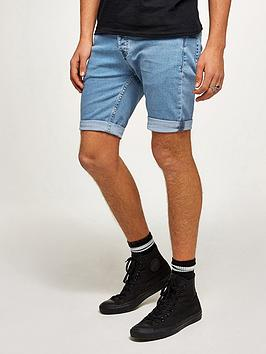 topman-bleach-marty-denim-shorts-blue