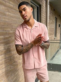 topman-micro-cord-revere-collar-shirt-pink