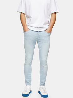 topman-bleach-wash-spray-on-jeans-blue