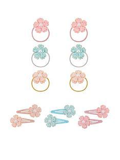 monsoon-girls-6-x-sugar-dust-flower-hair-accessory-set-multi