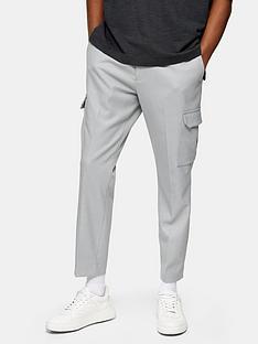 topman-twill-smart-joggers-grey