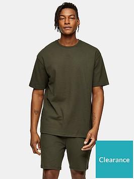topman-ribbed-t-shirt-khakinbsp