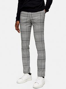 topman-large-check-trousers-grey