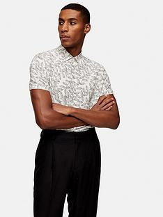topman-short-sleeve-dot-leaf-shirt-off-white
