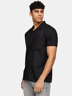 topman-eco-revere-collar-shirt-black