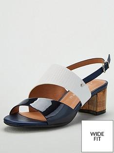 wallis-wide-fit-asymmetric-detail-block-heel-sandals-navy
