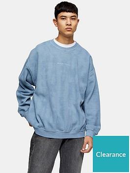 topman-montreal-logo-sweatshirt-bluenbsp