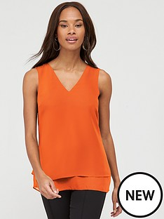 v-by-very-essential-double-layer-vest-orange