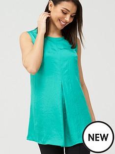 v-by-very-longline-sleeveless-shell-top-green