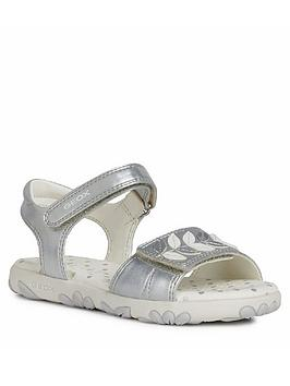 geox-girls-haiti-sandals-silver