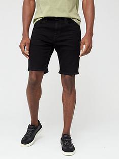levis-502-taper-hemmed-denim-shorts-eightball-black