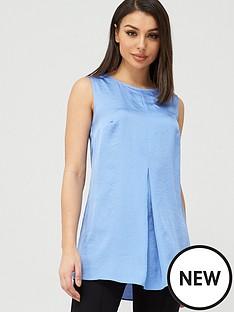v-by-very-longline-sleeveless-shell-top-cornflower-blue