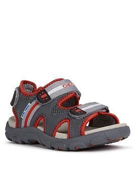 geox-boys-strada-sandals-greyred