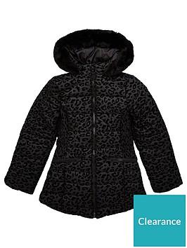 v-by-very-girls-flock-leopard-print-shower-proofnbsppadded-coat-black