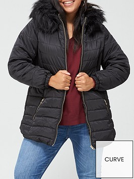 v-by-very-curve-longline-padded-coat-with-faux-fur-trim-hood-black