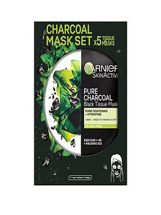 garnier-garnier-charcoal-and-algae-purifying-and-hydrating-face-sheet-mask-for-enlarged-pores-5-pack