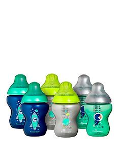 tommee-tippee-6-piece-260ml-closer-to-nature-decorated-bottles