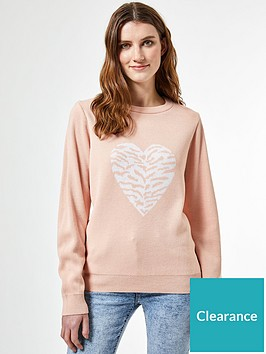 dorothy-perkins-animal-heart-jumper-pink