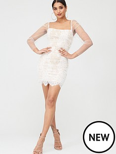 in-the-style-in-the-style-lace-mesh-puff-sleeve-mini-dress-white