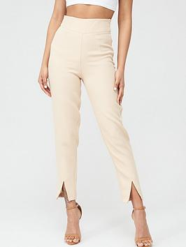 in-the-style-in-the-style-x-stephsa-split-leg-trousers-camel