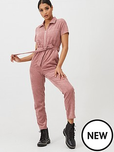 in-the-style-in-the-style-x-fashion-influx-corduroy-zip-front-boilersuit-pink