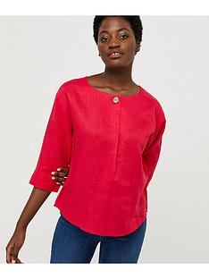 monsoon-scarlet-100-linen-t-shirt-pink