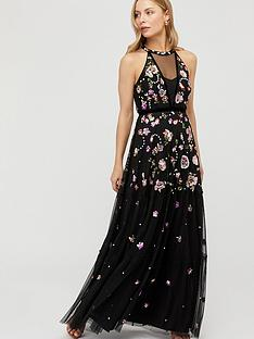monsoon-cara-floral-embellished-maxi-dress-black