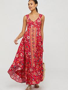 monsoon-lauren-ecovero-print-dress-red