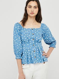 monsoon-samia-spot-organic-cotton-blouse-blue