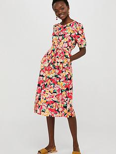 monsoon-verna-print-organic-cotton-linen-dress-navy