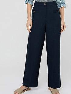 monsoon-charlotte-short-length-linen-trousers-navy
