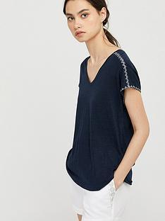 monsoon-liza-stitch-detail-linen-t-shirt-navynbsp
