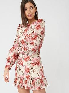 in-the-style-in-the-style-x-billie-faiers-peony-print-pephem-mini-dress-pink