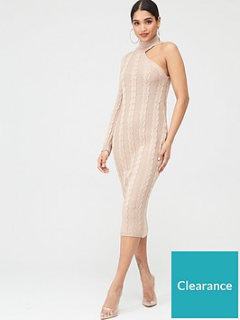 in-the-style-in-the-style-x-billie-faiers-one-shoulder-cable-knit-midi-dress-stone