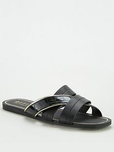 office-stella-flat-sandal-black
