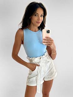 michelle-keegan-minimals-jersey-bodysuit-blue