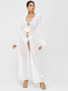 in-the-style-in-the-style-x-billie-faiersnbspdobby-mesh-twist-front-beach-cover-up-white