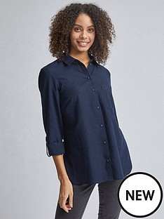 dorothy-perkins-dorothy-perkins-linen-shirt-navynbsp